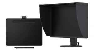 Monitor EIZO ColorEdge CG2420 z tabletem WACOM Intuos S BT